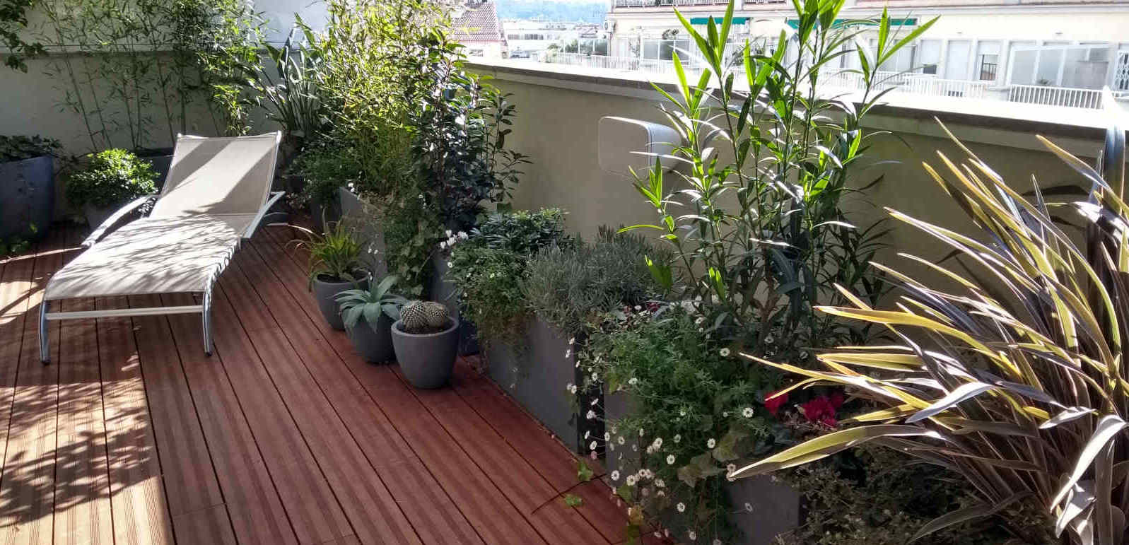 Jardinería en terrazas y balcones en Barcelona
