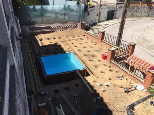 Instalación tarima Barcelona - preparar la base